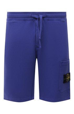 Мужские хлопковые шорты STONE ISLAND синего цвета, арт. 751564620 | Фото 1