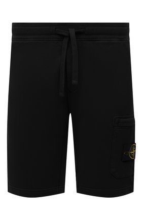 Мужские хлопковые шорты STONE ISLAND черного цвета, арт. 751564620 | Фото 1