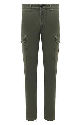 Мужские хлопковые брюки-карго STONE ISLAND хаки цвета, арт. 7515318L1 | Фото 1