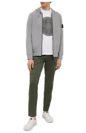 Мужские хлопковые брюки-карго STONE ISLAND хаки цвета, арт. 7515318L1 | Фото 2