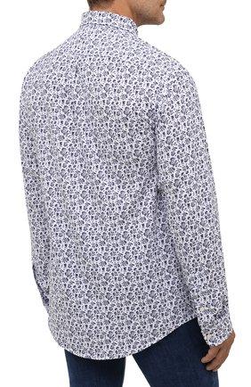 Мужская хлопковая рубашка POLO RALPH LAUREN белого цвета, арт. 711812657/PRL BS | Фото 4 (Манжеты: На пуговицах; Воротник: Button down; Big sizes: Big Sizes; Рукава: Длинные; Случай: Повседневный; Длина (для топов): Стандартные; Принт: С принтом; Материал внешний: Хлопок; Стили: Кэжуэл)