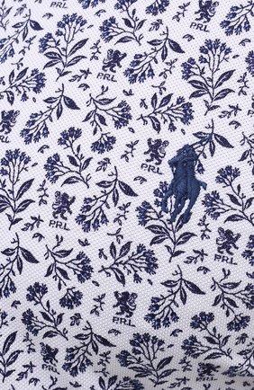 Мужская хлопковая рубашка POLO RALPH LAUREN белого цвета, арт. 711812657/PRL BS | Фото 5 (Манжеты: На пуговицах; Воротник: Button down; Big sizes: Big Sizes; Рукава: Длинные; Случай: Повседневный; Длина (для топов): Стандартные; Принт: С принтом; Материал внешний: Хлопок; Стили: Кэжуэл)