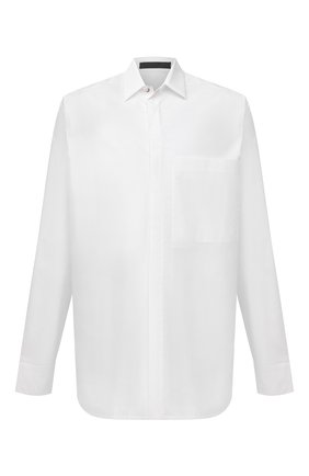 Мужская хлопковая рубашка FEAR OF GOD белого цвета, арт. FG50-003TWC | Фото 1