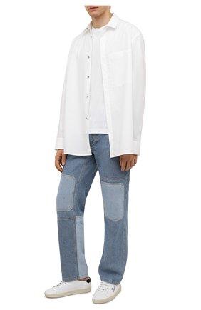 Мужская хлопковая рубашка FEAR OF GOD белого цвета, арт. FG50-003TWC | Фото 2