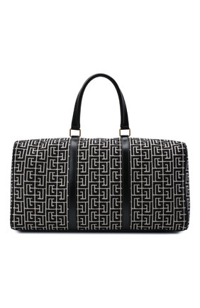 Мужская текстильная дорожная сумка 1945 BALMAIN черного цвета, арт. WN1EC650/TJGH | Фото 1