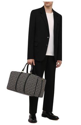 Мужская текстильная дорожная сумка 1945 BALMAIN черного цвета, арт. WN1EC650/TJGH | Фото 2