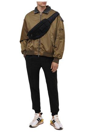 Мужская текстильная поясная сумка BALMAIN черного цвета, арт. WM1AB154/TNJM | Фото 2
