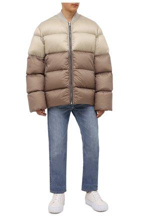 Мужская пуховая куртка RICK OWENS бежевого цвета, арт. RU02A5788/NZD3 | Фото 2