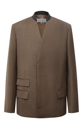 Мужской шерстяной пиджак MAISON MARGIELA коричневого цвета, арт. S50BN0473/S44578 | Фото 1