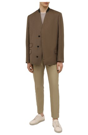 Мужской шерстяной пиджак MAISON MARGIELA коричневого цвета, арт. S50BN0473/S44578 | Фото 2