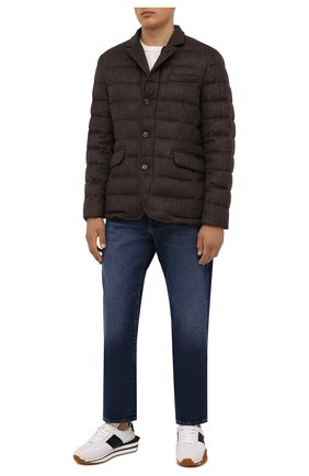 Мужская пуховая куртка из шерсти и кашемира zayn-ls9 MOORER темно-коричневого цвета, арт. ZAYN-LS9/M0UGI100307-TEPA228 | Фото 2 (Материал утеплителя: Пух и перо; Материал подклада: Синтетический материал; Материал внешний: Шерсть; Кросс-КТ: Куртка; Длина (верхняя одежда): Короткие; Рукава: Длинные; Мужское Кросс-КТ: пуховик-короткий; Стили: Классический)