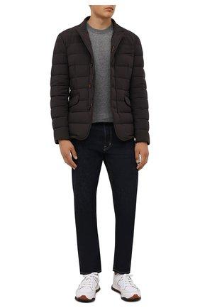 Мужская пуховая куртка zayn-kn MOORER темно-коричневого цвета, арт. ZAYN-KN/M0UGI100307-TEPA009 | Фото 2 (Материал подклада: Синтетический материал; Материал утеплителя: Пух и перо; Материал внешний: Синтетический материал; Кросс-КТ: Куртка; Рукава: Длинные; Длина (верхняя одежда): Короткие; Мужское Кросс-КТ: пуховик-короткий; Стили: Классический)