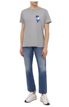 Мужская хлопковая футболка ISABEL MARANT серого цвета, арт. TS0433-21A040H/ZAFFERH | Фото 2