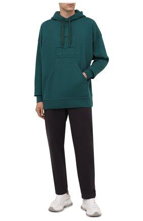 Мужской хлопковое худи ISABEL MARANT зеленого цвета, арт. SW0055-21A033H/MILEY | Фото 2