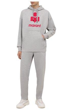 Мужские хлопковые брюки ISABEL MARANT светло-серого цвета, арт. PA2012-21A033H/MAILEJ0 | Фото 2