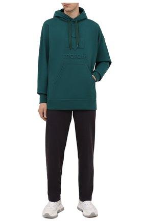 Мужские хлопковые брюки ISABEL MARANT темно-коричневого цвета, арт. PA2012-21A033H/MAILEJ0 | Фото 2