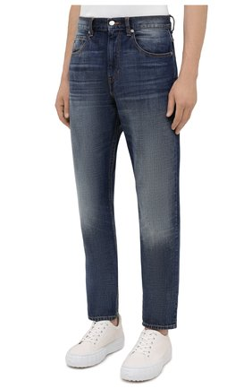 Мужские джинсы ISABEL MARANT синего цвета, арт. PA0867-21A018H/JACK | Фото 3 (Силуэт М (брюки): Прямые; Кросс-КТ: Деним; Длина (брюки, джинсы): Стандартные; Материал внешний: Хлопок; Детали: Потертости; Стили: Кэжуэл)