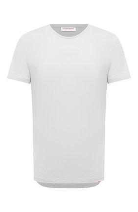 Мужская хлопковая футболка ORLEBAR BROWN светло-серого цвета, арт. 273688 | Фото 1