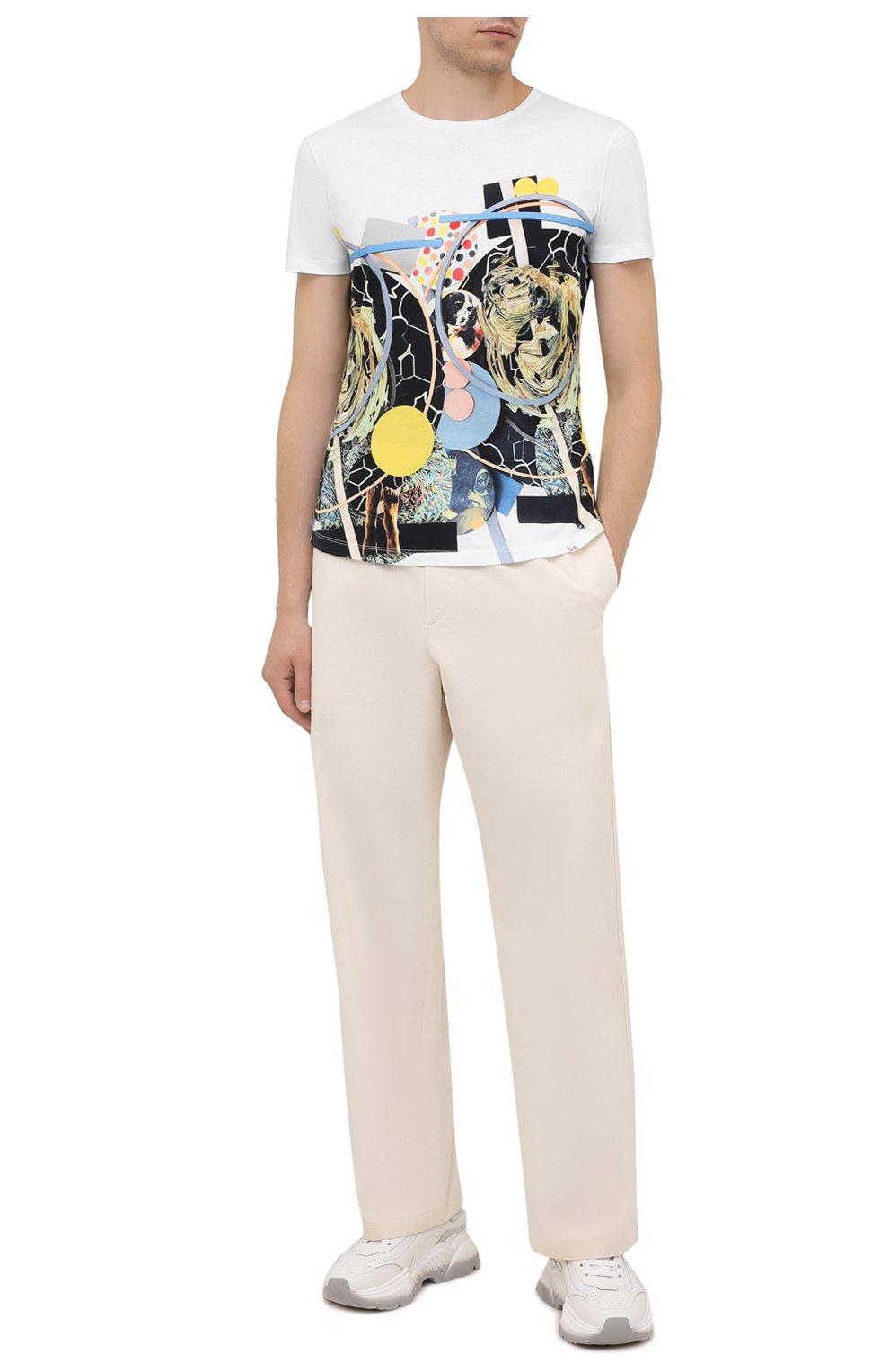 Мужская хлопковая футболка ORLEBAR BROWN белого цвета, арт. 273689   Фото 2 (Кросс-КТ: Пляж; Рукава: Короткие; Длина (для топов): Стандартные; Принт: С принтом; Материал внешний: Хлопок; Стили: Кэжуэл)