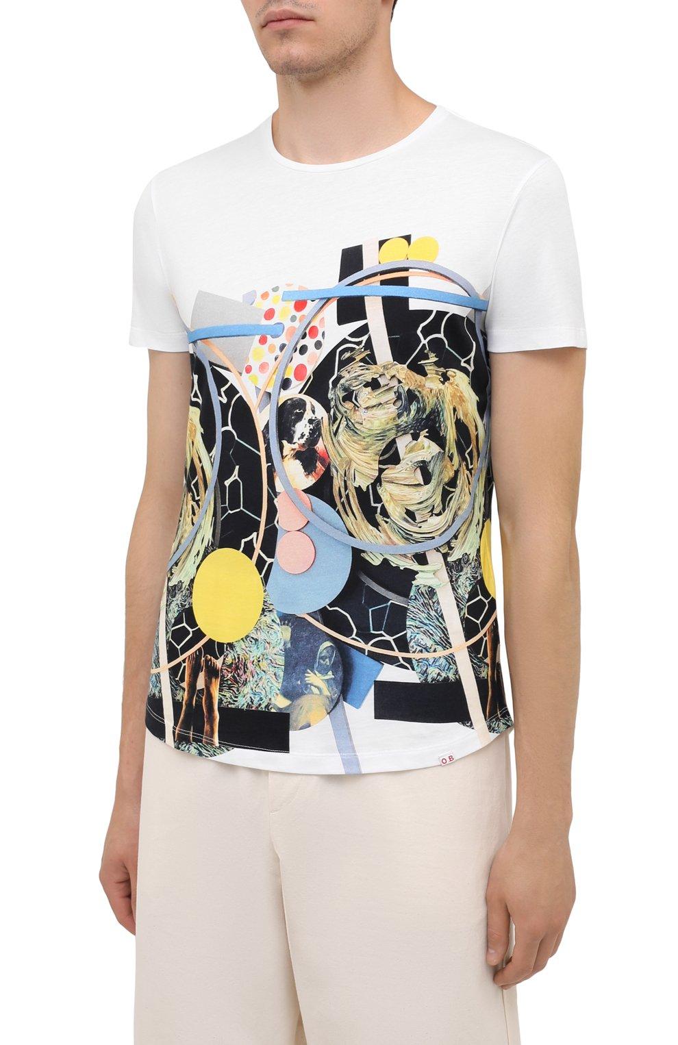 Мужская хлопковая футболка ORLEBAR BROWN белого цвета, арт. 273689   Фото 3 (Кросс-КТ: Пляж; Рукава: Короткие; Длина (для топов): Стандартные; Принт: С принтом; Материал внешний: Хлопок; Стили: Кэжуэл)