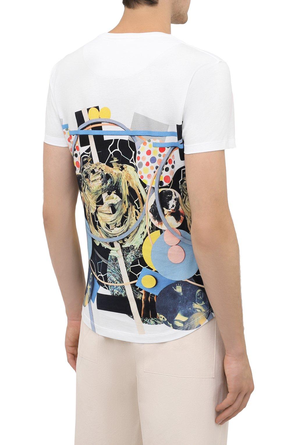 Мужская хлопковая футболка ORLEBAR BROWN белого цвета, арт. 273689   Фото 4 (Кросс-КТ: Пляж; Рукава: Короткие; Длина (для топов): Стандартные; Принт: С принтом; Материал внешний: Хлопок; Стили: Кэжуэл)