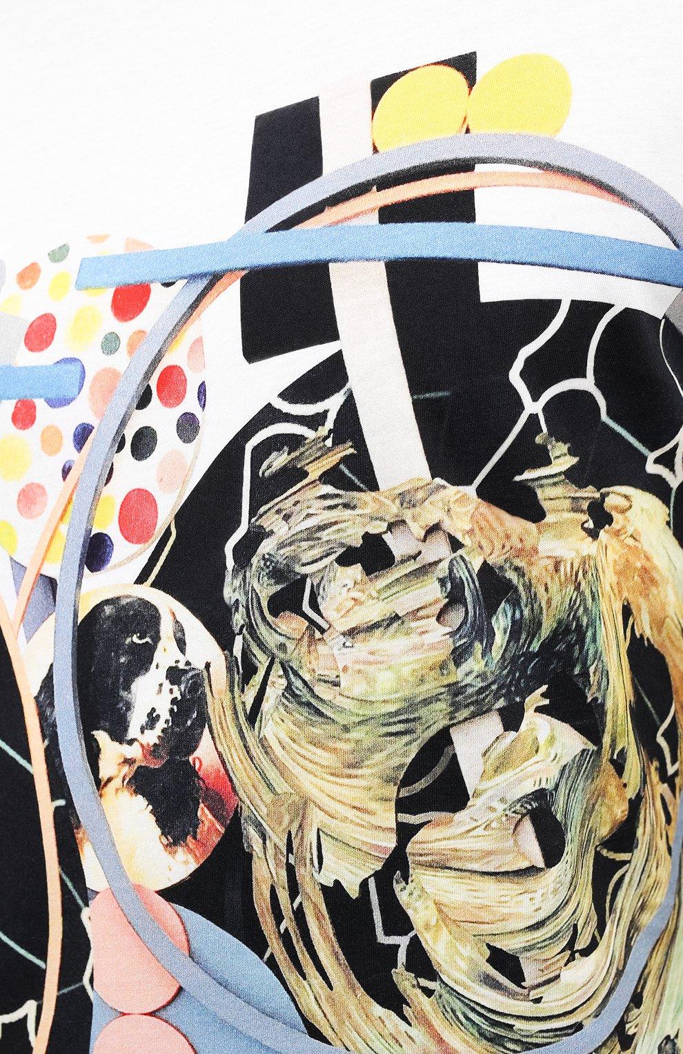 Мужская хлопковая футболка ORLEBAR BROWN белого цвета, арт. 273689   Фото 5 (Кросс-КТ: Пляж; Рукава: Короткие; Длина (для топов): Стандартные; Принт: С принтом; Материал внешний: Хлопок; Стили: Кэжуэл)