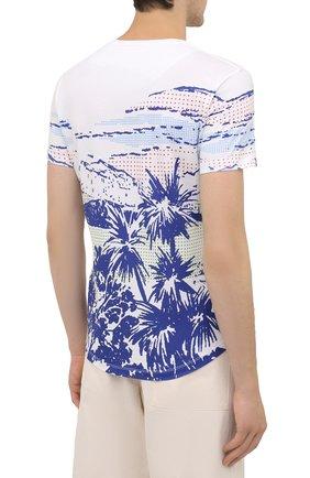 Мужская хлопковая футболка ORLEBAR BROWN белого цвета, арт. 273696 | Фото 4 (Кросс-КТ: Пляж; Рукава: Короткие; Длина (для топов): Стандартные; Принт: С принтом; Материал внешний: Хлопок; Стили: Кэжуэл)