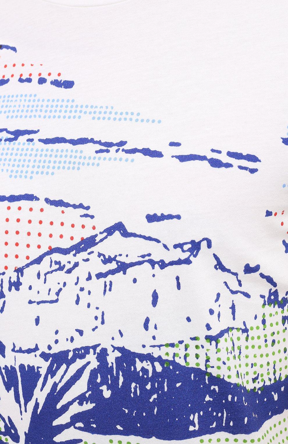 Мужская хлопковая футболка ORLEBAR BROWN белого цвета, арт. 273696 | Фото 5 (Кросс-КТ: Пляж; Рукава: Короткие; Длина (для топов): Стандартные; Принт: С принтом; Материал внешний: Хлопок; Стили: Кэжуэл)