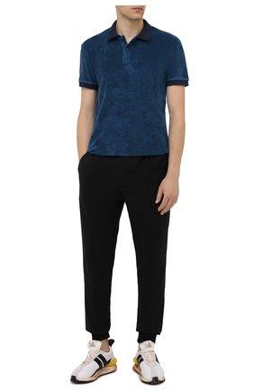 Мужское хлопковое поло ORLEBAR BROWN темно-синего цвета, арт. 273879 | Фото 2