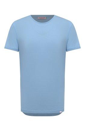 Мужская хлопковая футболка ORLEBAR BROWN голубого цвета, арт. 274182 | Фото 1