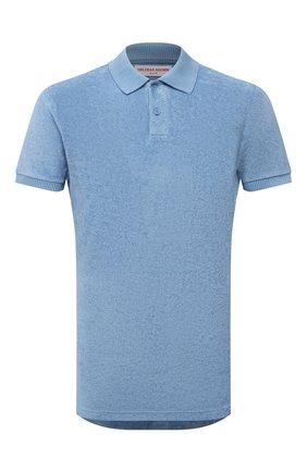 Мужское хлопковое поло ORLEBAR BROWN голубого цвета, арт. 274238 | Фото 1