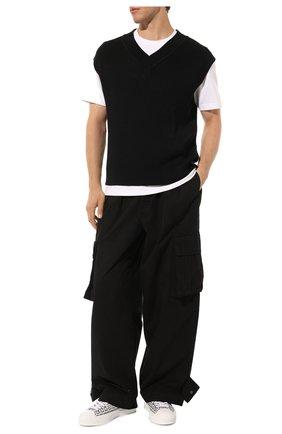 Мужские текстильные кеды city 4g GIVENCHY черно-белого цвета, арт. BH0050H0VC | Фото 2 (Материал внешний: Текстиль; Подошва: Массивная; Материал внутренний: Натуральная кожа)