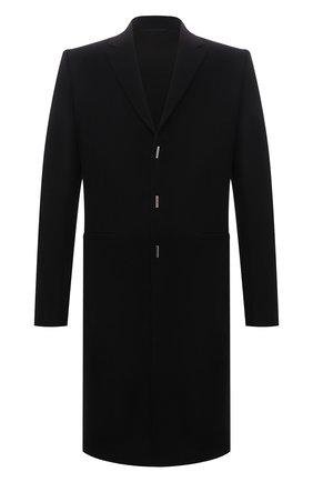 Мужской пальто из шерсти и кашемира GIVENCHY черного цвета, арт. BMC05P12Y0 | Фото 1
