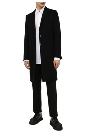 Мужской пальто из шерсти и кашемира GIVENCHY черного цвета, арт. BMC05P12Y0 | Фото 2