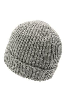 Мужская кашемировая шапка FEDELI светло-серого цвета, арт. 4UI07302 | Фото 2 (Материал: Кашемир, Шерсть; Кросс-КТ: Трикотаж)
