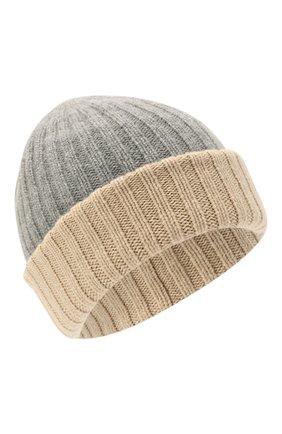Мужская кашемировая шапка FEDELI светло-серого цвета, арт. 4UI07305 | Фото 1 (Материал: Кашемир, Шерсть; Кросс-КТ: Трикотаж)
