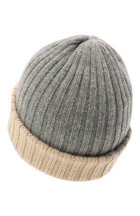 Мужская кашемировая шапка FEDELI светло-серого цвета, арт. 4UI07305 | Фото 2 (Материал: Кашемир, Шерсть; Кросс-КТ: Трикотаж)