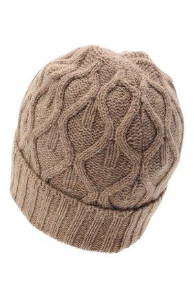 Мужская шерстяная шапка DANIELE FIESOLI темно-бежевого цвета, арт. DF 8009/NL | Фото 2