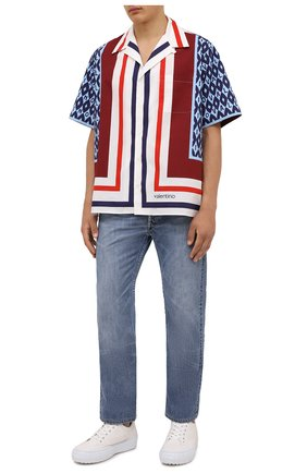 Мужская хлопковая рубашка VALENTINO разноцветного цвета, арт. WV3AAA907CA | Фото 2