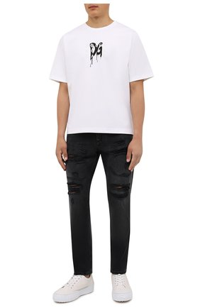 Мужская футболка DOLCE & GABBANA белого цвета, арт. G8MS1Z/FUGK4 | Фото 2