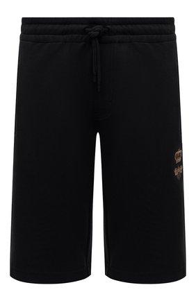 Мужские хлопковые шорты DOLCE & GABBANA черного цвета, арт. GWJWAZ/HU7H9 | Фото 1 (Материал внешний: Хлопок; Длина Шорты М: Ниже колена; Кросс-КТ: Трикотаж; Принт: Без принта; Стили: Спорт-шик)