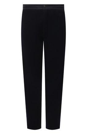 Мужские брюки из шерсти и кашемира GIORGIO ARMANI темно-синего цвета, арт. 6KSP55/SJVEZ | Фото 1 (Длина (брюки, джинсы): Стандартные; Материал внешний: Кашемир, Шерсть; Случай: Повседневный; Стили: Кэжуэл)