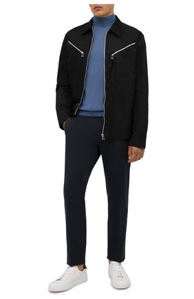Мужской кашемировая водолазка GIORGIO ARMANI синего цвета, арт. 6KSM24/SM05Z | Фото 2 (Материал внешний: Шерсть, Кашемир; Мужское Кросс-КТ: Водолазка-одежда; Стили: Кэжуэл; Принт: Без принта; Длина (для топов): Стандартные; Рукава: Длинные)