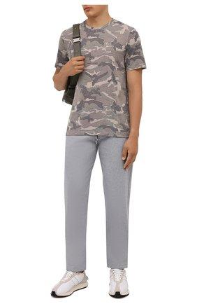 Мужская футболка SAINT LAURENT хаки цвета, арт. 667316/Y36IT | Фото 2