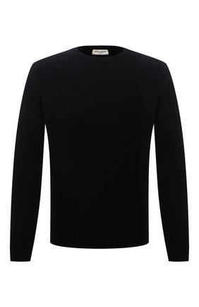 Мужской кашемировый свитер SAINT LAURENT черного цвета, арт. 603087/YALJ2 | Фото 1 (Длина (для топов): Стандартные; Материал внешний: Кашемир, Шерсть; Рукава: Длинные; Мужское Кросс-КТ: Свитер-одежда; Стили: Кэжуэл; Принт: Без принта)
