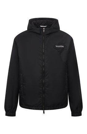 Мужская куртка VALENTINO черного цвета, арт. WV3CI3697G5 | Фото 1 (Материал внешний: Синтетический материал; Материал подклада: Синтетический материал; Кросс-КТ: Куртка, Ветровка; Длина (верхняя одежда): Короткие; Стили: Минимализм; Рукава: Длинные)