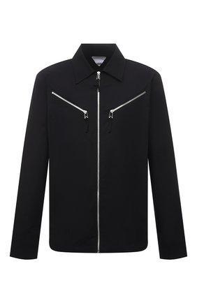 Мужская хлопковая куртка BOTTEGA VENETA черного цвета, арт. 666543/V08U0 | Фото 1 (Материал внешний: Хлопок; Рукава: Длинные; Длина (верхняя одежда): Короткие; Кросс-КТ: Куртка, Ветровка; Стили: Минимализм)
