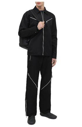 Мужская хлопковая куртка BOTTEGA VENETA черного цвета, арт. 666543/V08U0 | Фото 2 (Материал внешний: Хлопок; Рукава: Длинные; Длина (верхняя одежда): Короткие; Кросс-КТ: Куртка, Ветровка; Стили: Минимализм)