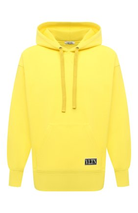 Мужской хлопковое худи VALENTINO желтого цвета, арт. WV3MF18I7GD | Фото 1