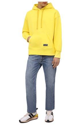 Мужской хлопковое худи VALENTINO желтого цвета, арт. WV3MF18I7GD | Фото 2